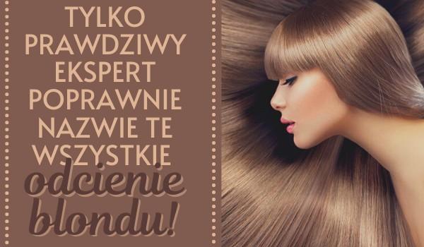 Tylko prawdziwy ekspert poprawnie nazwie te wszystkie odcienie blondu!