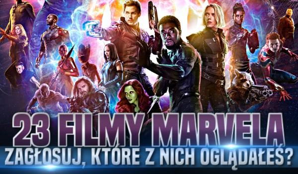 23 filmy Marvela – Zagłosuj, które z nich oglądałeś!