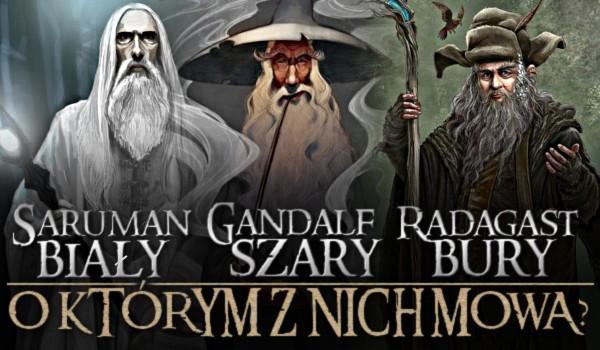 Saruman Biały, Gandalf Szary czy Radagast Bury? O którym z nich mowa?