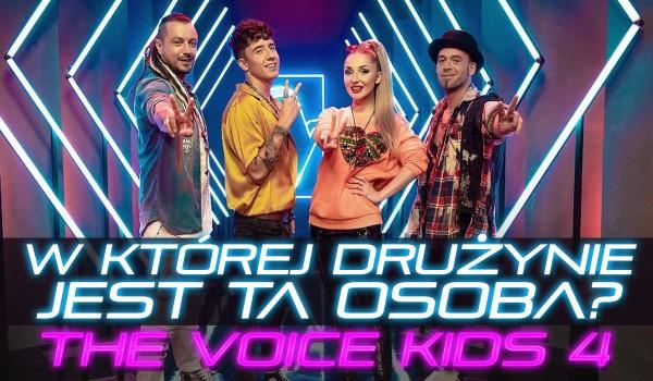 W której drużynie jest ta osoba? – The Voice Kids 4