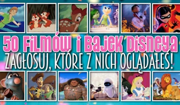 50 filmów i bajek Disneya – Zagłosuj, które z nich oglądałeś!