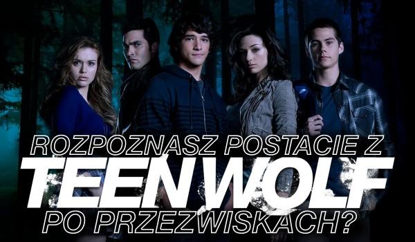 """Czy rozpoznasz postacie z """"Teen Wolf"""" po przezwiskach?"""