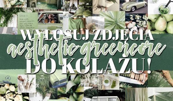 Wylosuj zdjęcia aesthetic greencore do kolażu!