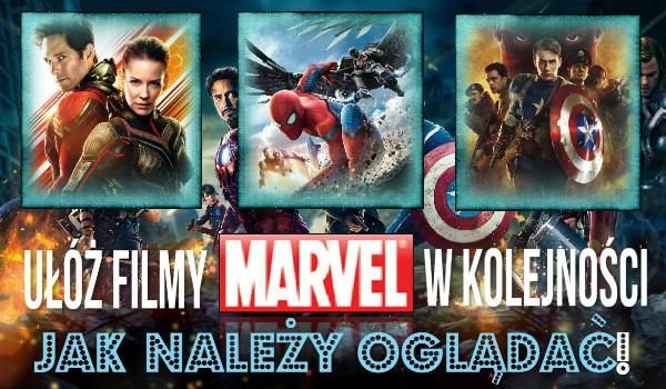 Ułóż filmy Marvela w kolejności jak należy oglądać!
