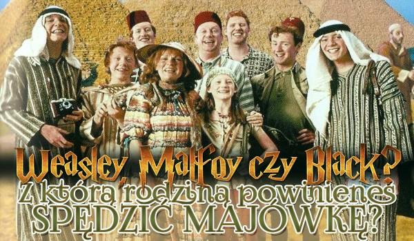 Weasley, Black czy Malfoy — z którą rodziną powinieneś spędzić majówkę?
