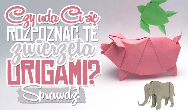 Czy rozpoznasz te zwierzęta origami?