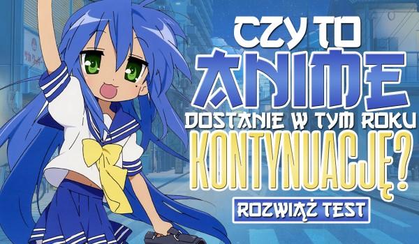 Czy to anime dostanie swoją kontynuację w tym roku?