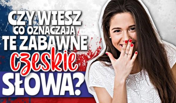 Czy wiesz, co oznaczają te zabawne czeskie słowa?