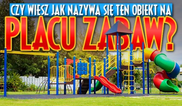 Czy wiesz, jak nazywa się ten obiekt na placu zabaw? – Test!