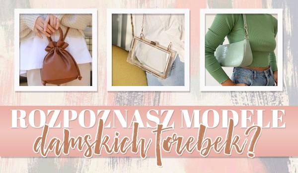 Czy rozpoznasz modele damskich torebek?