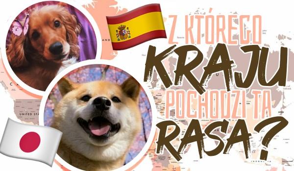 Czy uda Ci się dopasować kraje do ras psów, z których pochodzą?