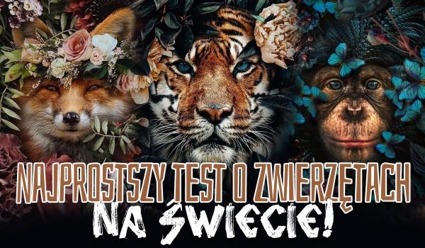 Najłatwiejszy test wiedzy o zwierzętach na świecie!
