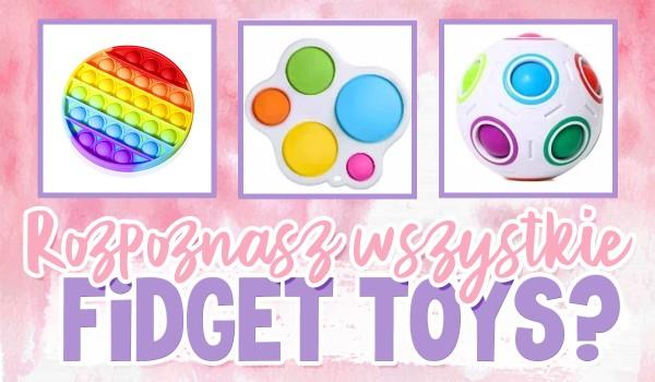 Uda Ci się rozpoznać wszystkie fidget toys?