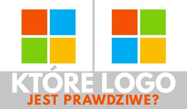 Które logo jest PRAWDZIWE?