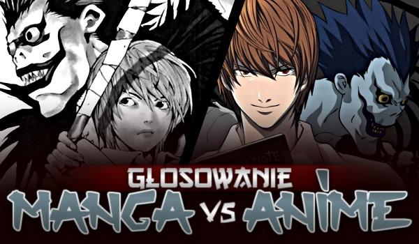 Głosowanie – anime vs. manga