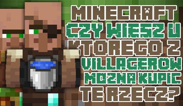 Minecraft: Czy wiesz, u którego z villagerów można kupić tę rzecz?
