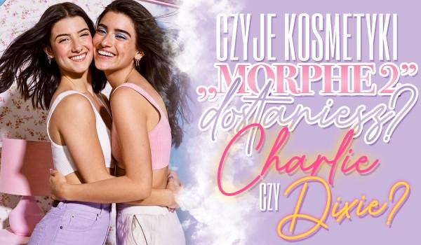 """Czyje kosmetyki """"Morphe 2"""" dostaniesz? – Charli czy Dixie?"""