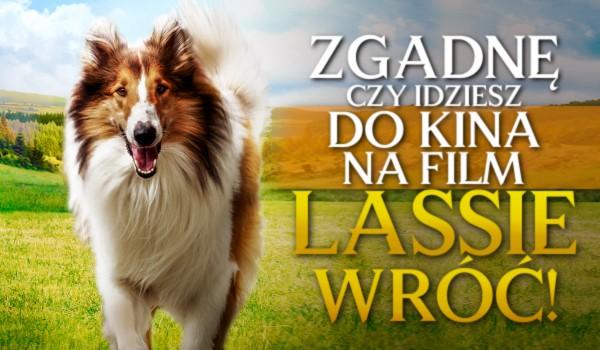 """Zgadnę, czy idziesz do kina na film """"Lassie, wróć""""!"""