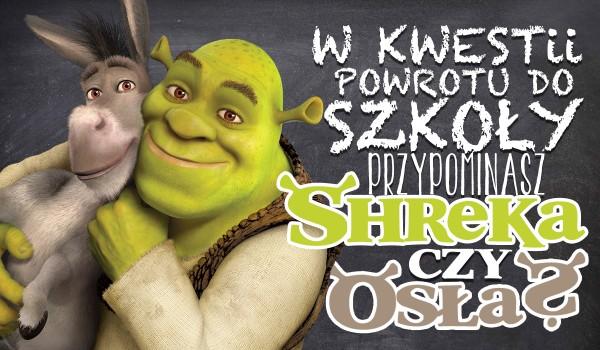 W kwestii powrotu do szkoły przypominasz bardziej Shreka czy Osła?