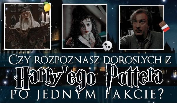 """Czy uda Ci się rozpoznać dorosłych z """"Harry'ego Pottera"""" po jednym fakcie?"""