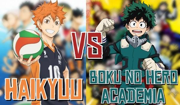 """""""Haikyuu"""" vs. """"Boku no Hero Academia""""!"""