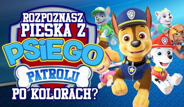 Czy rozpoznasz pieska z Psiego Patrolu po jego kolorach?
