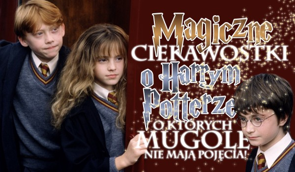 Magiczne ciekawostki o Harrym Potterze, o których mugole nie mają pojęcia!