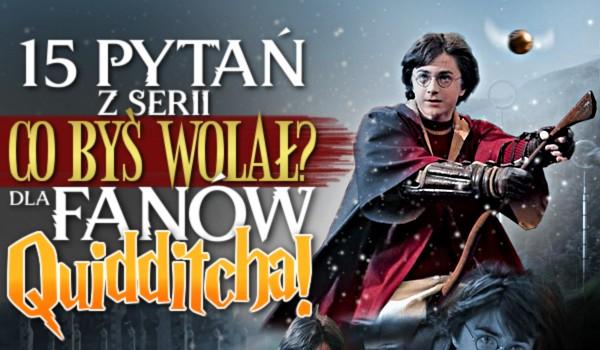 """15 pytań z serii ,,Co byś wolał?"""" dla fanów Quidditcha!"""