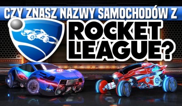 Czy znasz nazwy samochodów z Rocket League?