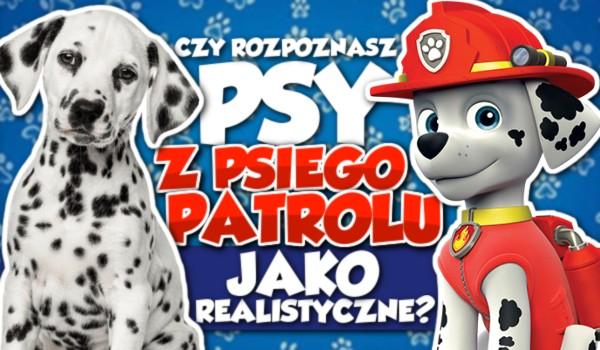 Czy rozpoznasz psy z Psiego Patrolu, jako realistyczne?